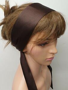 Women satin head scarf tie back Bohemian headband curly hair scarf Afro hair