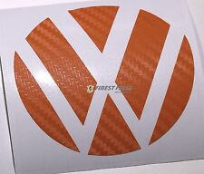 Emblem Ecken Carbon Orange hinten VW Golf 6 VI GTI GTD R Turbo Logo Folie