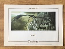 Lord Of The Rings Return Of The King. Masterworks Lithographic Art Print Film