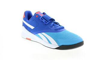 Reebok Lifter PR II FX3227 Mens Blue Canvas Athletic Weightlifting Shoes