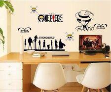 One Piece Monkey D. Luffy Mural Wall Decals Vinyl Stickers Children's Room Decor