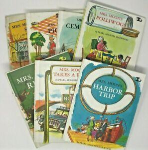 Vintage Lot of 7 Mrs Moon books Harwood Hardcover - Lerner - Mrs. Moon's Rescue