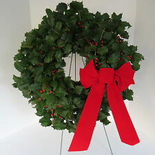 "FRESH  AMERICAN HOLLY Christmas Wreath, 16"" Diameter"