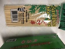 100 pc 6'' Bamboo Skewers Wooden BBQ Sticks for Shish Grill Kabobs Shrimp Royal
