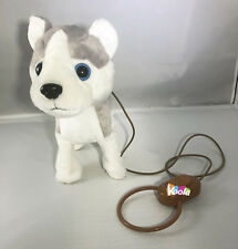 Walk Along Toy Stuffed Plush Dog Puppy Toy Realistic Walking Actions with Music