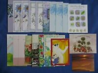 Vintage Greeting Cards Sympathy & Friendship Lot-20 With Envelopes Flowers