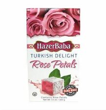 Hazer Baba Turkish Delight With Rose Petals 100 gr 3.5 oz Gluten Free