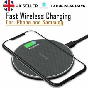 QI Wireless Charger Fast Charging Pad For Apple iPhone 11 Pro X XR XS 8 Plus Max