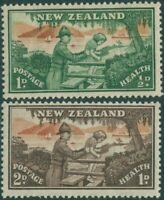 New Zealand 1946 SG678-679 Health Soldier helping child set MNH