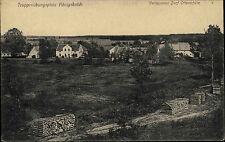 "1918 Stempel AK Königsbrück Sachsen ""Verlassenes Dorf Otterschütz"" Truppenlager"