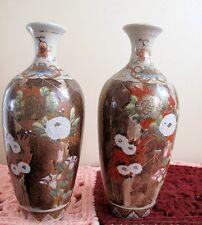 Paire Antique Japan Dai Nippon MEJI SATSUMA Nishida Kyoto vases peints à la main