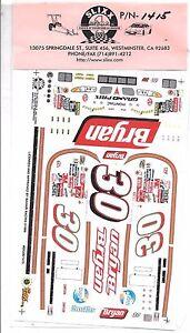 Slixx NASCAR Pontiac Brlyan No.30 Decals 1/24 1415
