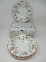 Churchill Briar Rose Fine English Tableware Rimmed Soup Bowls Set Of 4 New Boxed