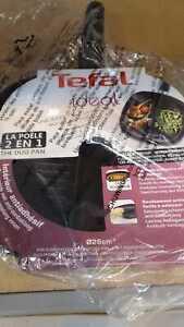 Tefal A1989014 Divided Frying Pan, Cast Aluminium, 5 liters, Black