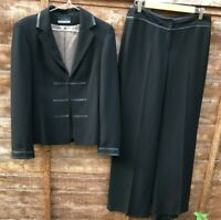 Principles Women Black Suit Blazer Jacket Trousers Smart Work Office UK 12