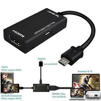 Micro USB to HDMI Cable MHL Adapter 1080p HD TV Android Phone Samsung S6 TCL