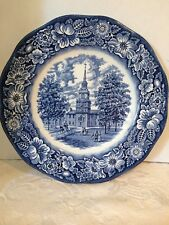 Liberty Blue Staffordshire, Independence Hall Dinner Dish