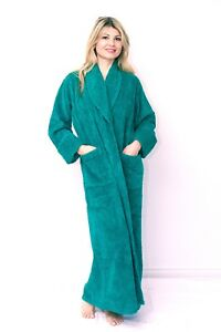 Luxury 100% Cotton Chenille Robes Bathrobes Dressing Gowns House coat Loungewear