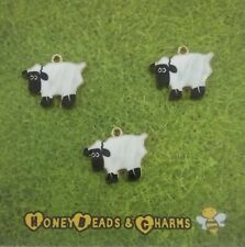 Sheep Charm 1.7cm Handmade Baa Jewellery Making Clay