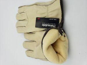 Premium 3M Thinsulate Industrial Leather Work Gloves 100 Gram Medium