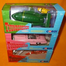 2015 CORGI CLASSIC THUNDERBIRDS 1 2 3 4 & FAB 1 DIECAST CAR VEHICLES LOT BOXED