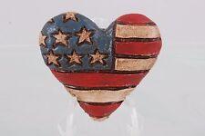 UNITED STATES OF AMERICA FLAG HEART BROOCH FASHION 2206B