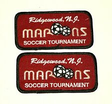 2 Ridgewood Maroons Soccer Team Club New Jersey Tournament Patch New NOS 1990s