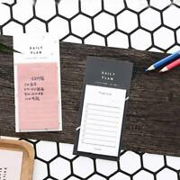 Study Work Plan Kraft Paper Sticky Notes School Stationery Student Memo Pad