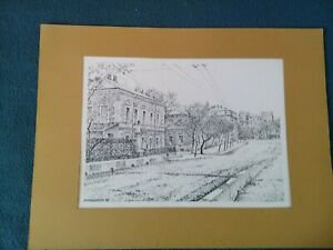 "Original drawing ""Odessa. Old houses on Grecheskaya"""