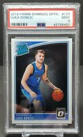 2018 Panini Donruss Optic Luka Doncic Rated Rookie Card #177 PSA 9 Mavericks