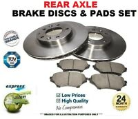 Rear Axle BRAKE DISCS with BEARING + PADS SET for RENAULT ESPACE IV 2.0 2002->on