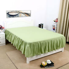 """US 14"""" Elastic Pleated Bed Skirts Solid Color Dust Ruffle Drop Esay Fit ALL SIZE"""