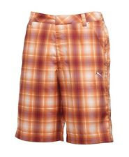 PUMA GOLF 562655 mens bermudas PLAID TECH shorts DRY CELL SIZE 36 beet orange