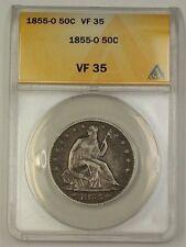 1855-O US Seated Liberty Half Dollar Coin 50c ANACS VF-35 (Better)