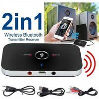 Bluetooth 5.0 Transmitter Empfänger Wireless Sender Audio Video Adapter Aux TV--
