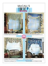 M3089 McCall's Sewing Pattern Decorating Window Treatment 4 Valances Reversible