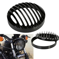 """5 3/4"""" CNC Headlight Light Grill Cover For Harley Sportster XL 883 1200 04 -2014"""