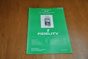 Fidelity IS 25 Stereo Music System Part no 44801 Genuine Service Manual