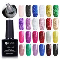 Sparkle Bling UV Gel Nail Polish Gellack Schimmer Soak Off Nagellack Maniküre