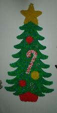 Vintage popcorn Melted Plastic Giant Tree Christmas Decoration