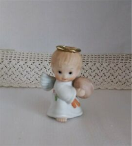 Vintage Precious Moments Figurine ~ Angel Holding a Football ~ 1987 ~ Porcelain