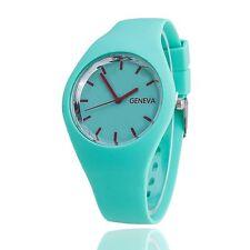 Women Men Casual Sports Bracelet Watch Jelly Silicone Quartz Analog Geneva Watch