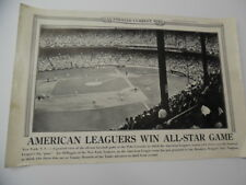 1942 Illustrated Current News Poster Joe DiMaggio Yankees Baseball All-Star Game