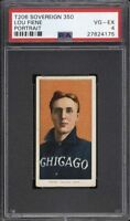 Rare 1909-11 T206 Lou Fiene Portrait Sovereign 350 Chicago PSA 4 VG-EX