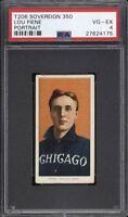 Rare 1909-11 T206 Lou Fiene Portrait Sovereign 350 Chicago PSA 4 VG-EX