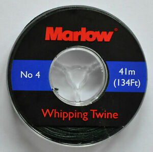 Marlow No 4 Waxed Whipping Twine - Green- 41m -134Ft  FREE DELIVERY