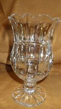 "Lamp  24% lead Crystal taper candle Block 7"" NB"