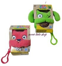 New Lot 2 Ugly Dolls To Go Keychain Plush Lucky Bat To Go Green + Ox To Go Pink
