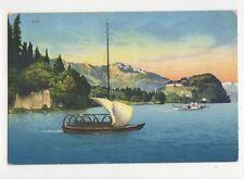 Villa Serbelloni Vista Del Lago di Lecco 1913 Postcard Italy 389a