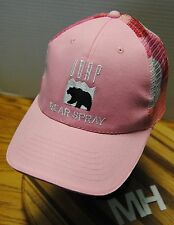 UDAP BEAR SPRAY WOMAN'S HAT. PINK WITH RED CAMO MESH BACK, ADJUSTABLE!!